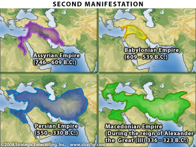 Israel's second manifestation, map