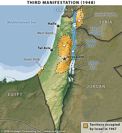 Israel's third manifestation, map